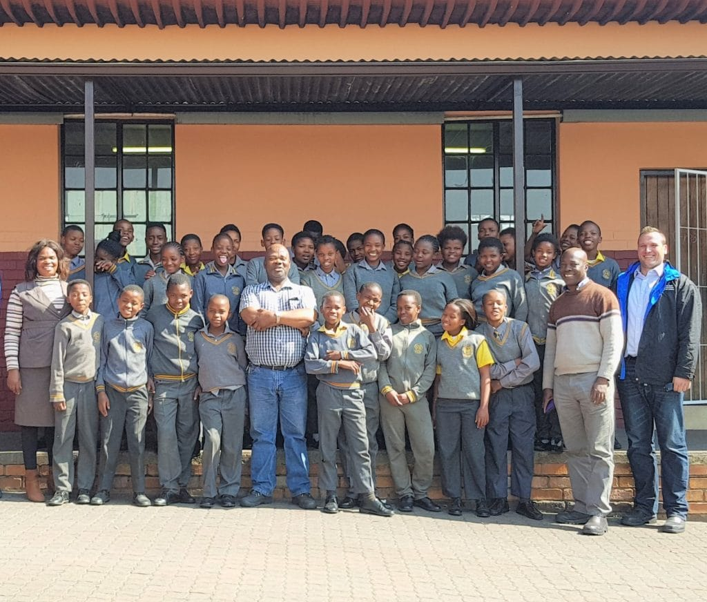 Martin and Robson at Blinkpan Primary School