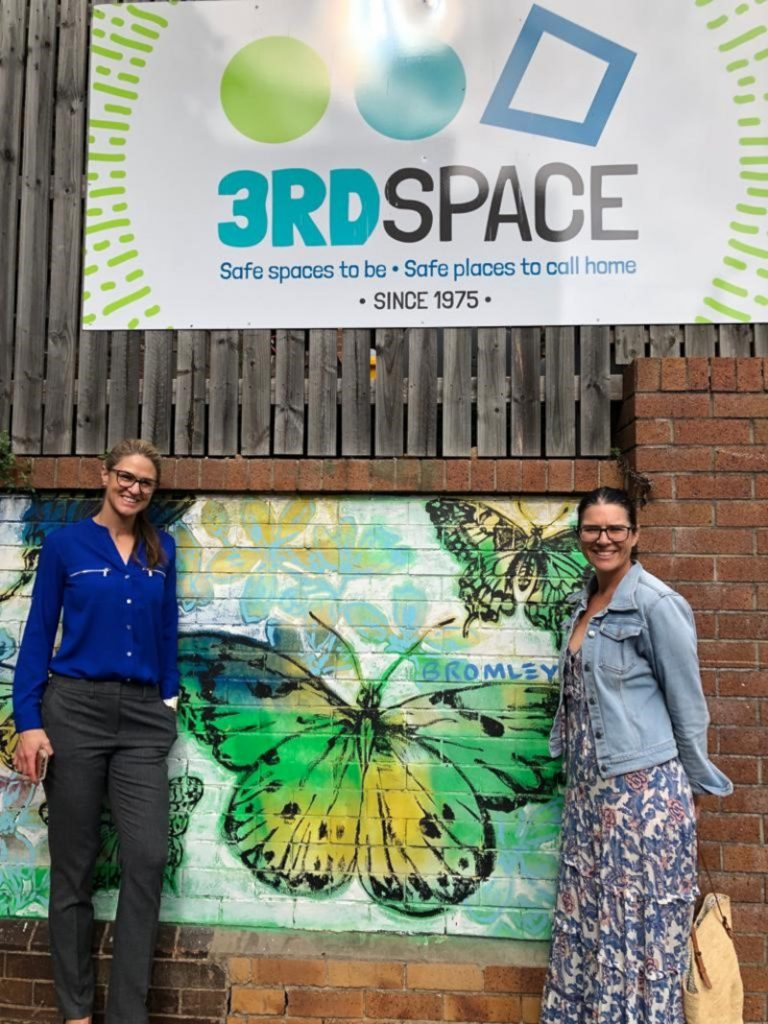 Sharelle Ellen an Veronica Swan from Martin and Robson Australia, delivering TVs to the Brisbane-based Charity, 3rd Space
